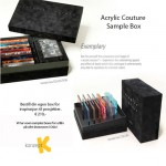 SAMPLE BOX, acrylic couture