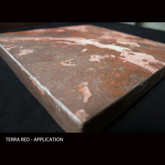 TERRA RED, MicroThin Slate – Application